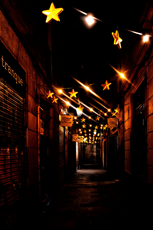Free stock photo of city lights, dark, lights, night