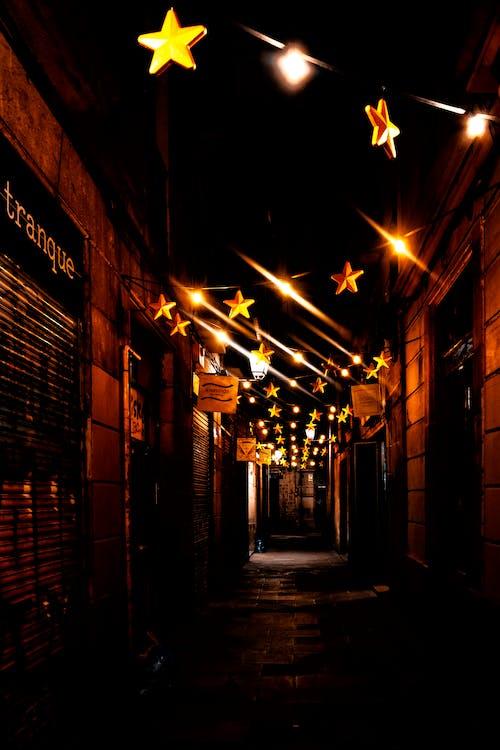 Immagine gratuita di arancia, fotografia, lampioni, luci