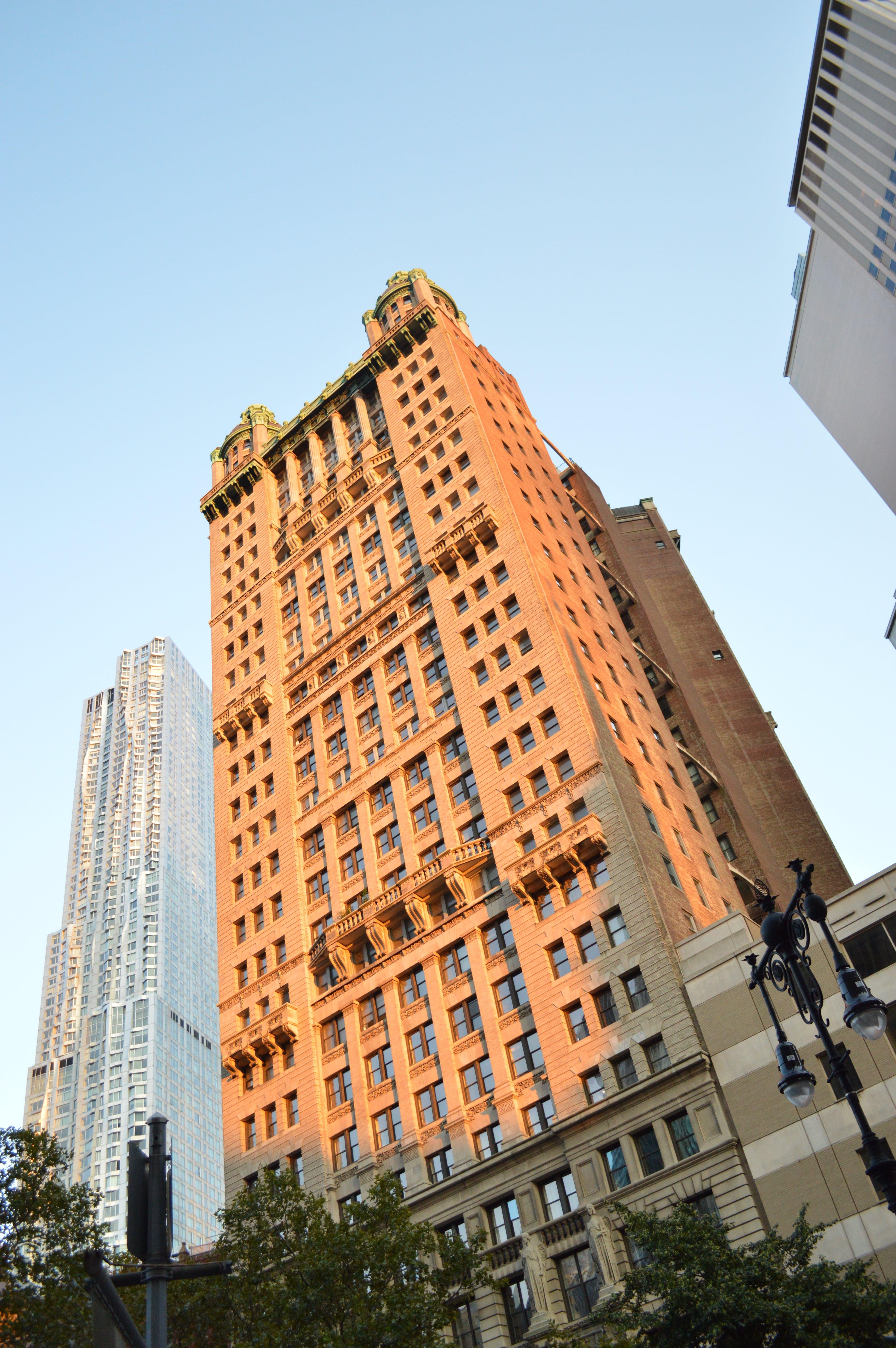 Free stock photo of building, building exterior, evening, new york