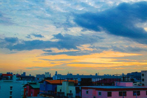 Free stock photo of blue sky, city, city scape, cloud