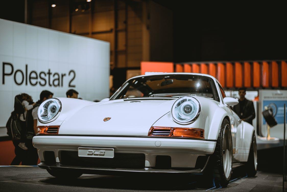 White Porsche 911 Coupe In A Car Show