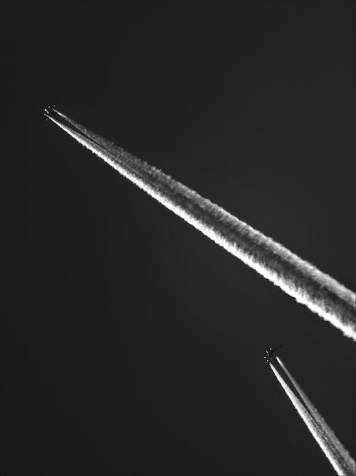 Graustufen Fotografie Flugzeuge