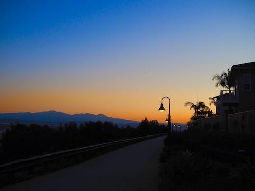 Free stock photo of lampposts, sunrise