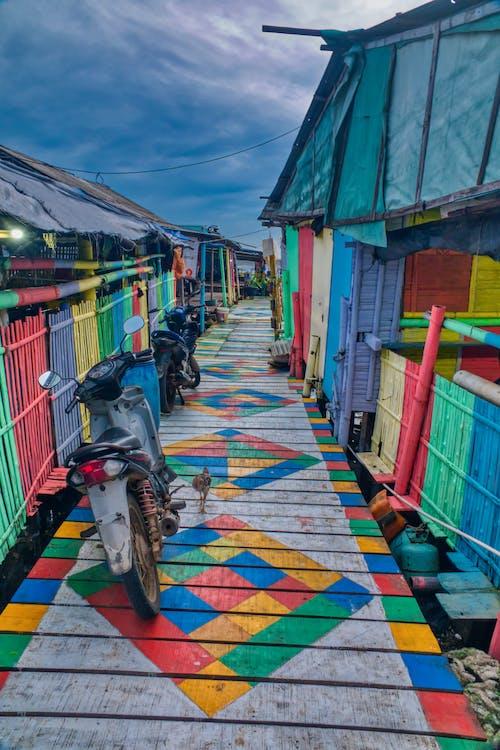 architektur, bunt, farbe