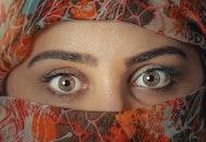 woman, girl, eyes