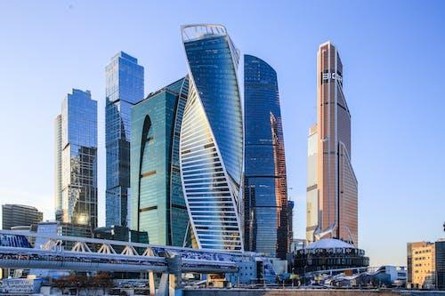 Free stock photo of blue sky, bridge, buildings, city