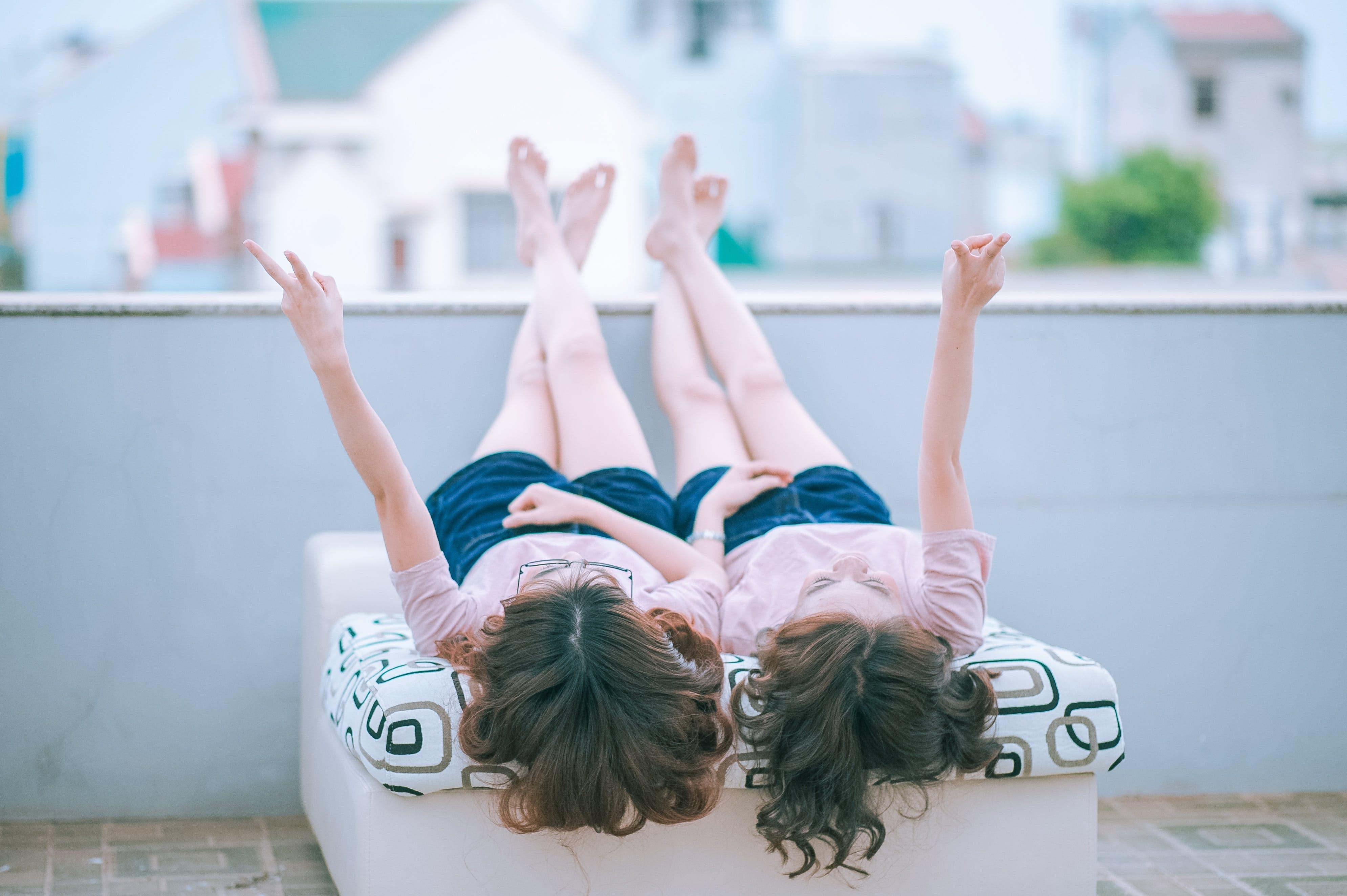 entspannung, frauen, freude