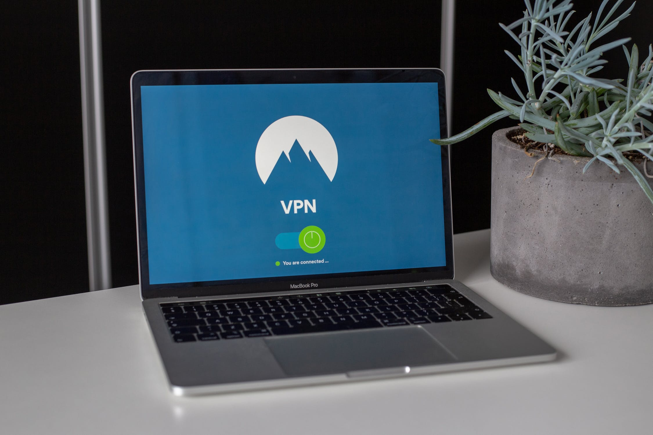 An image of a laptop using VPN.