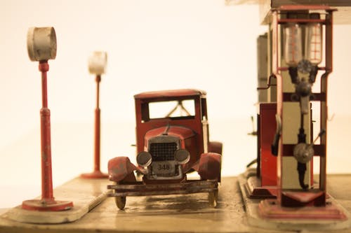 Vintage Red Car Die-cast Model
