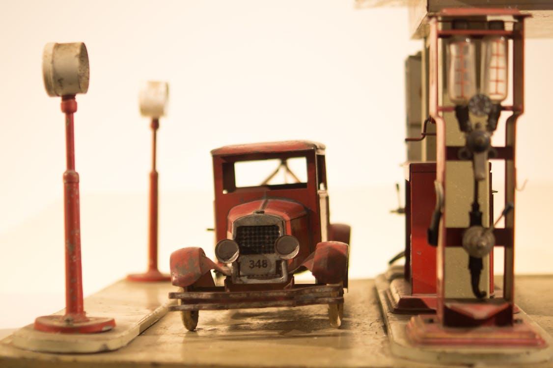 Vintage Red Car Die-cast Model