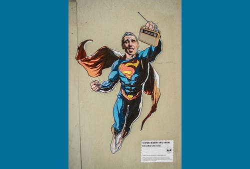 Free stock photo of art, artist, graffiti, superman