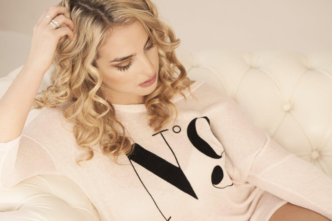attraktiv, blond, elegans