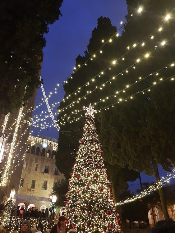 christmas decoration, jerusalem, ymca