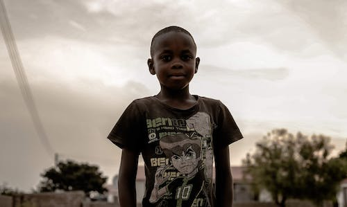 Free stock photo of african boy, clouds form, portrait, portrait photography