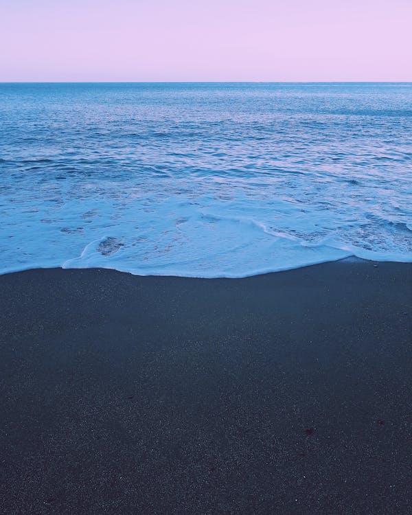 bølger, ferie, hav