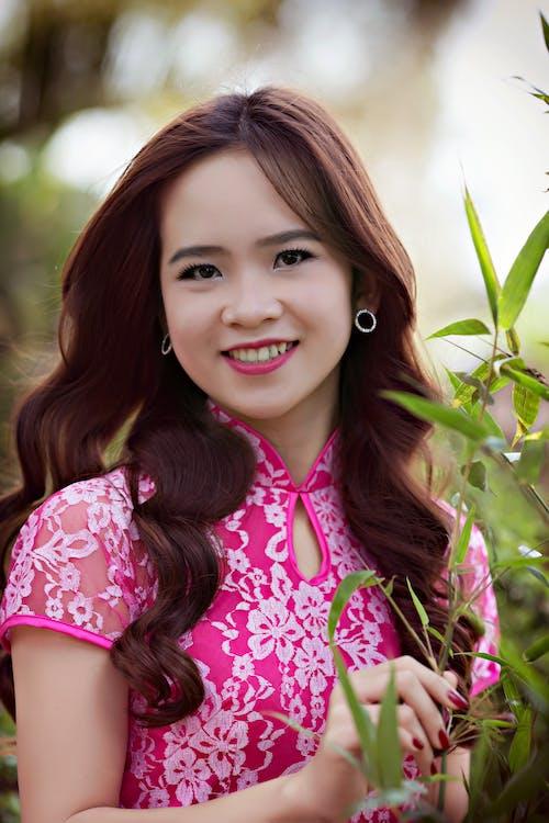 afslappet, asiatisk kvinde, Asiatisk pige