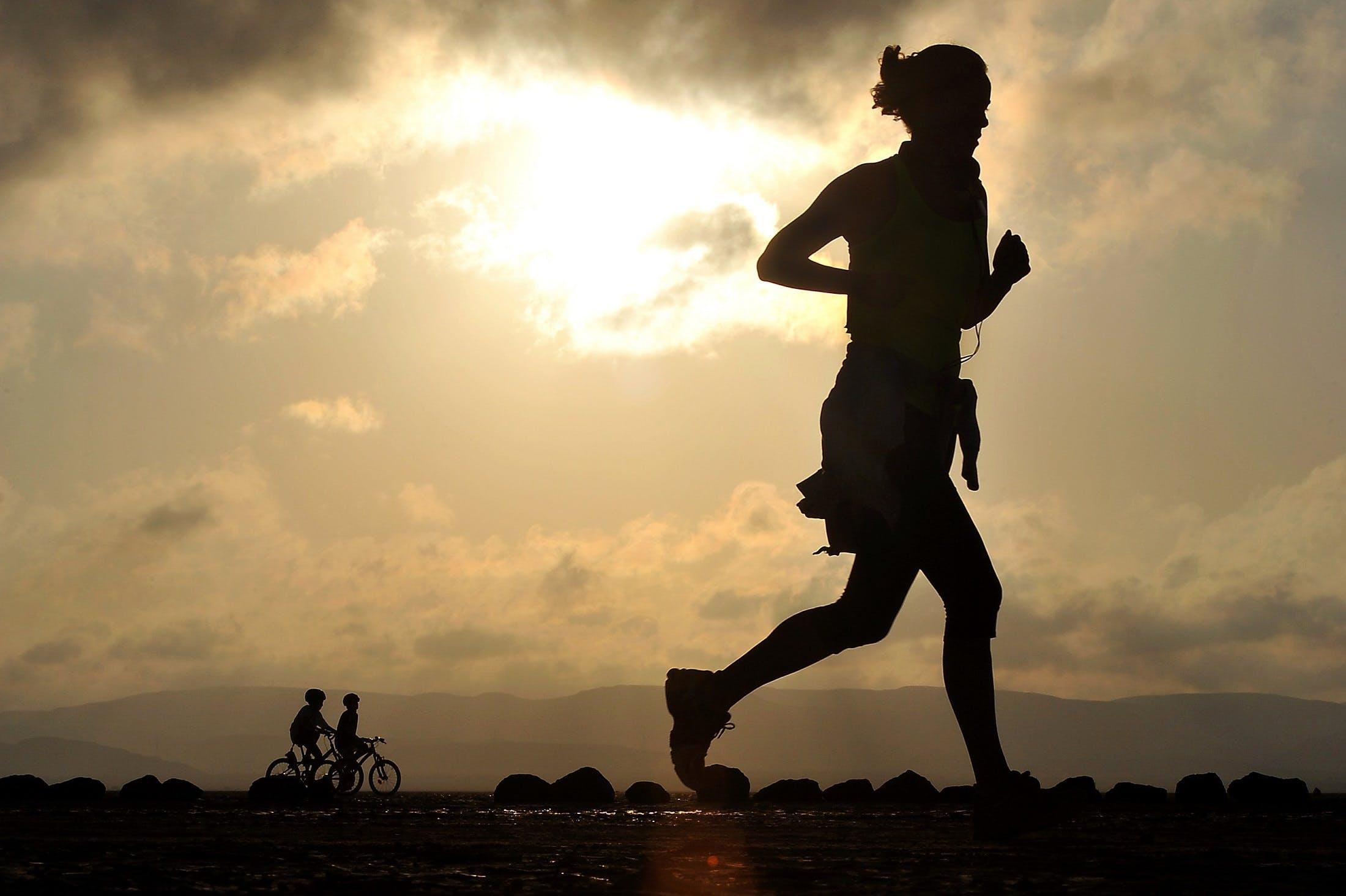 Free stock photo of woman, girl, desert, jogger