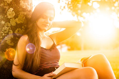 Free stock photo of field, golden hour, outdoor photography, outdoor reading