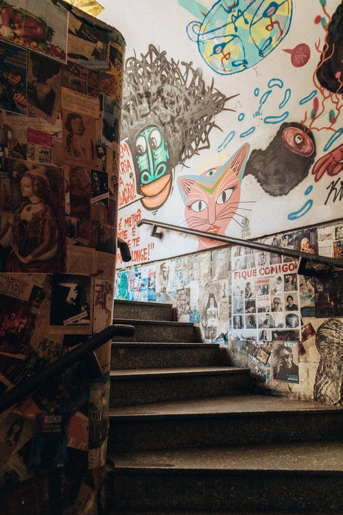 塗鴉, 巴西, 市中心, 樓梯 的 免费素材照片