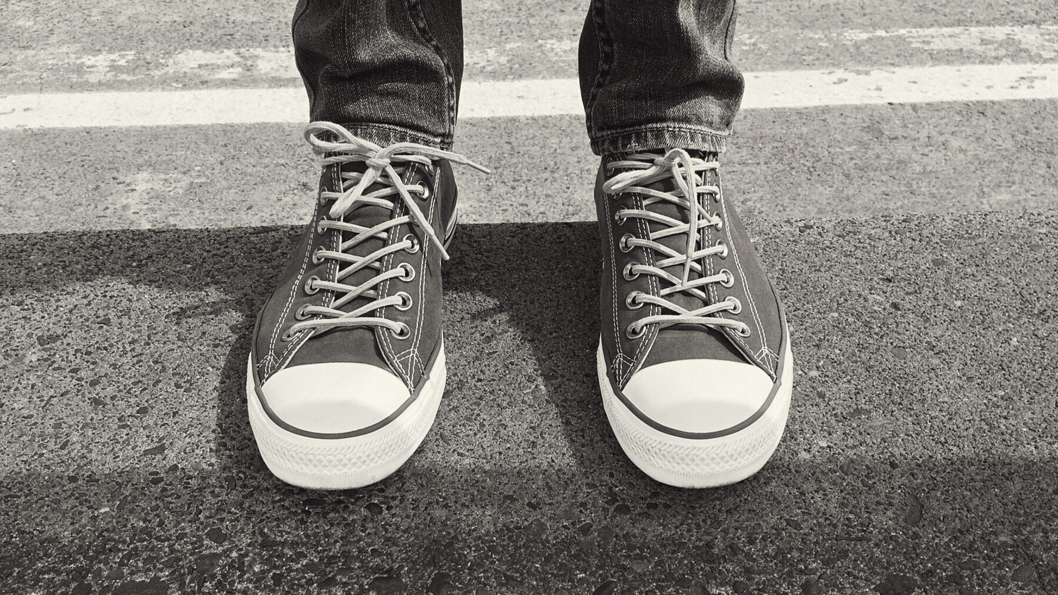Free stock photo of black-and-white, feet, shoes, sneakers