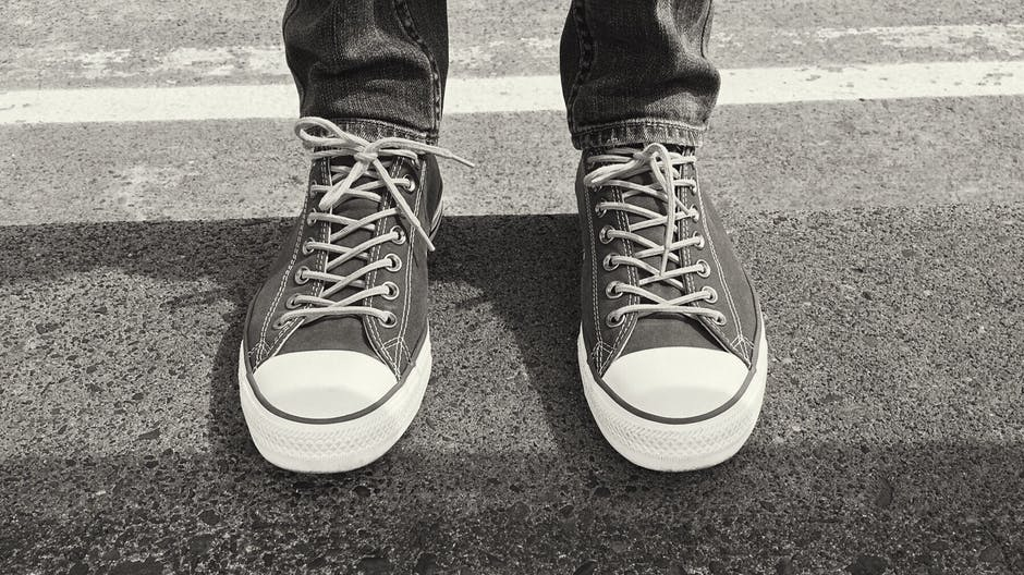 New free stock photo of black-and-white, feet, shoes