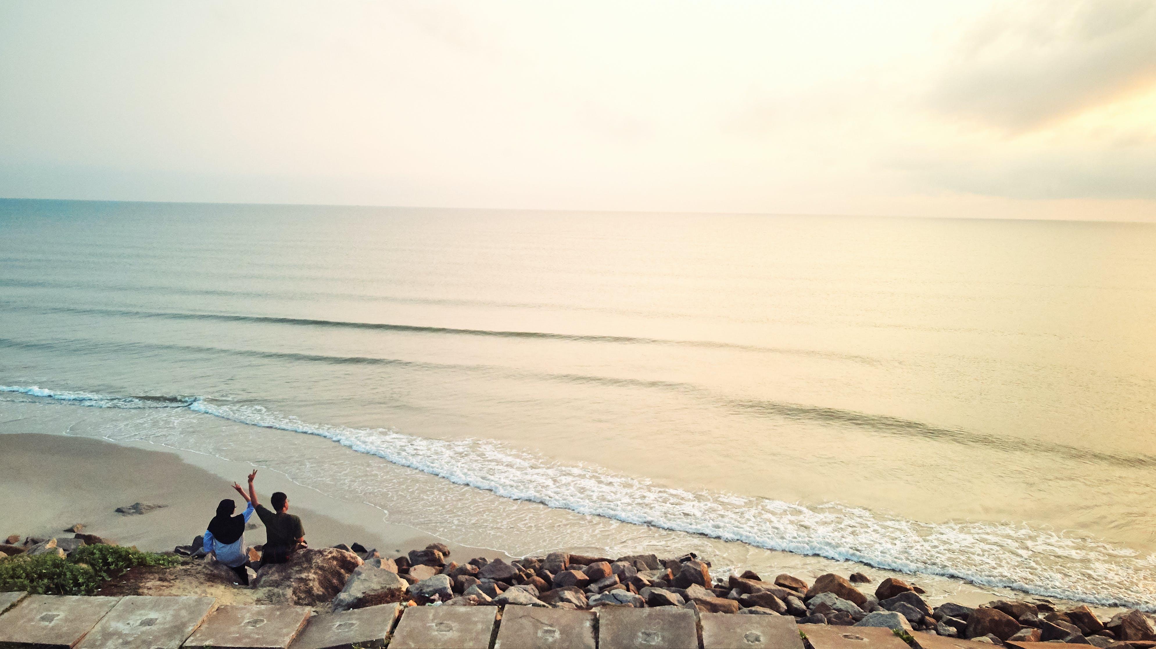 Kostenloses Stock Foto zu drohne, luftaufnahmen, strand