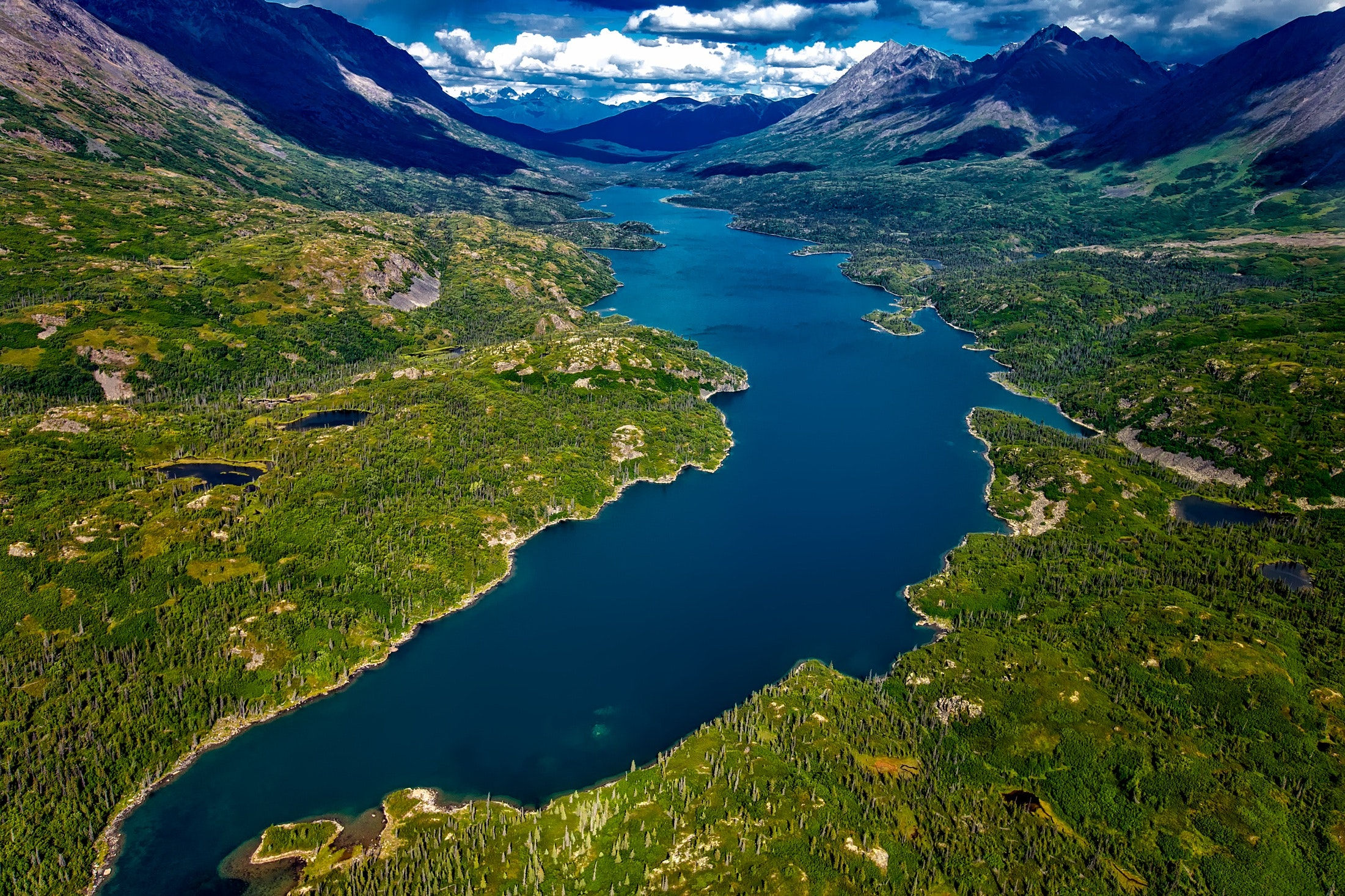 Aerial View Photography of River · Free Stock Photo
