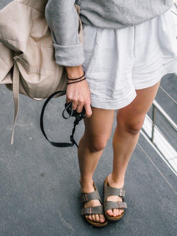 calzado, desgaste, llevar puesto