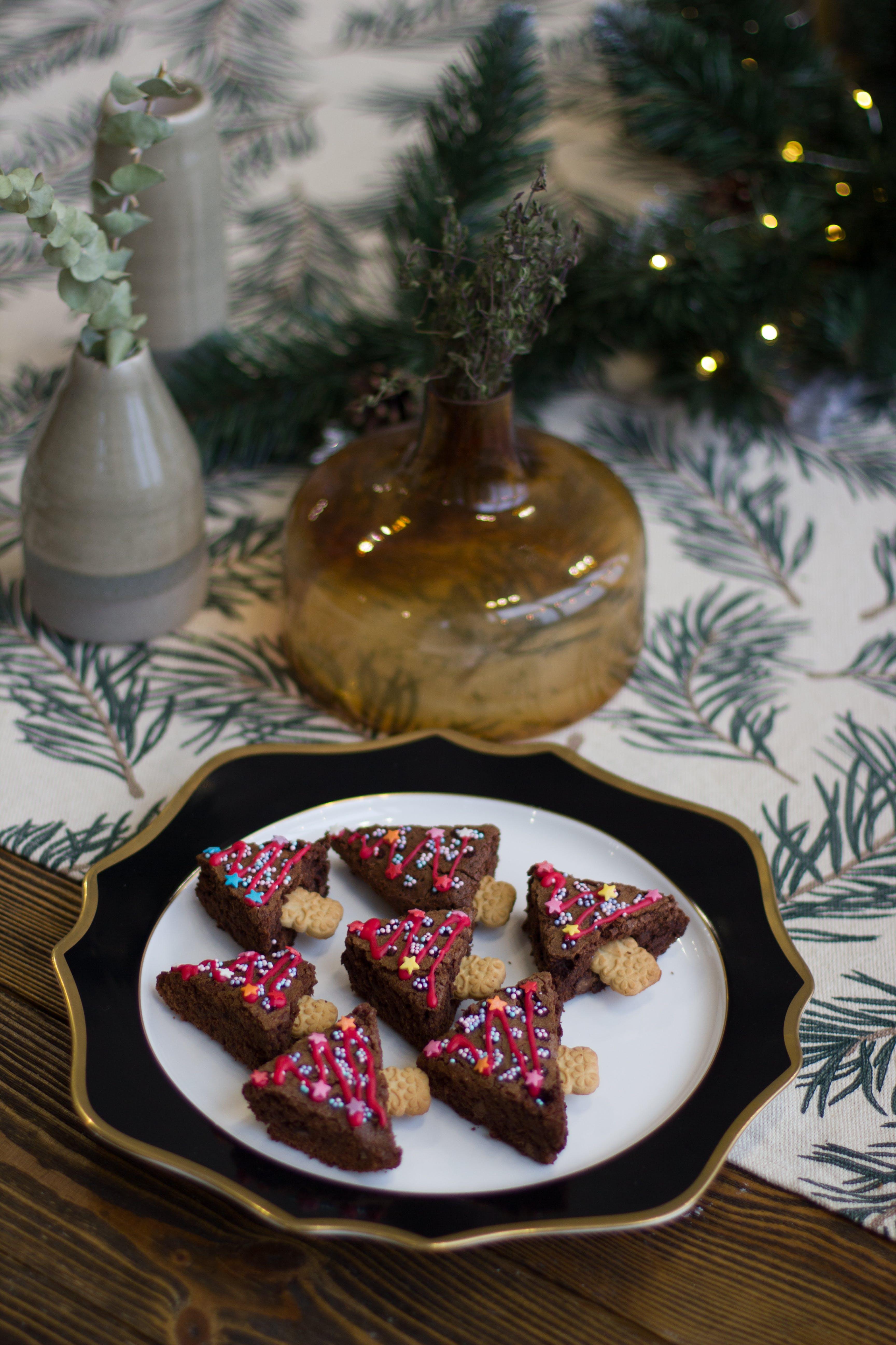 Chocolate Munchies on Ceramic Plate