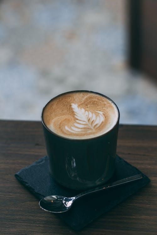 cappuccino, dryck, espresso