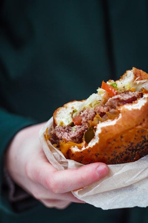 Foto stok gratis burger, burger keju, camilan, cemilan