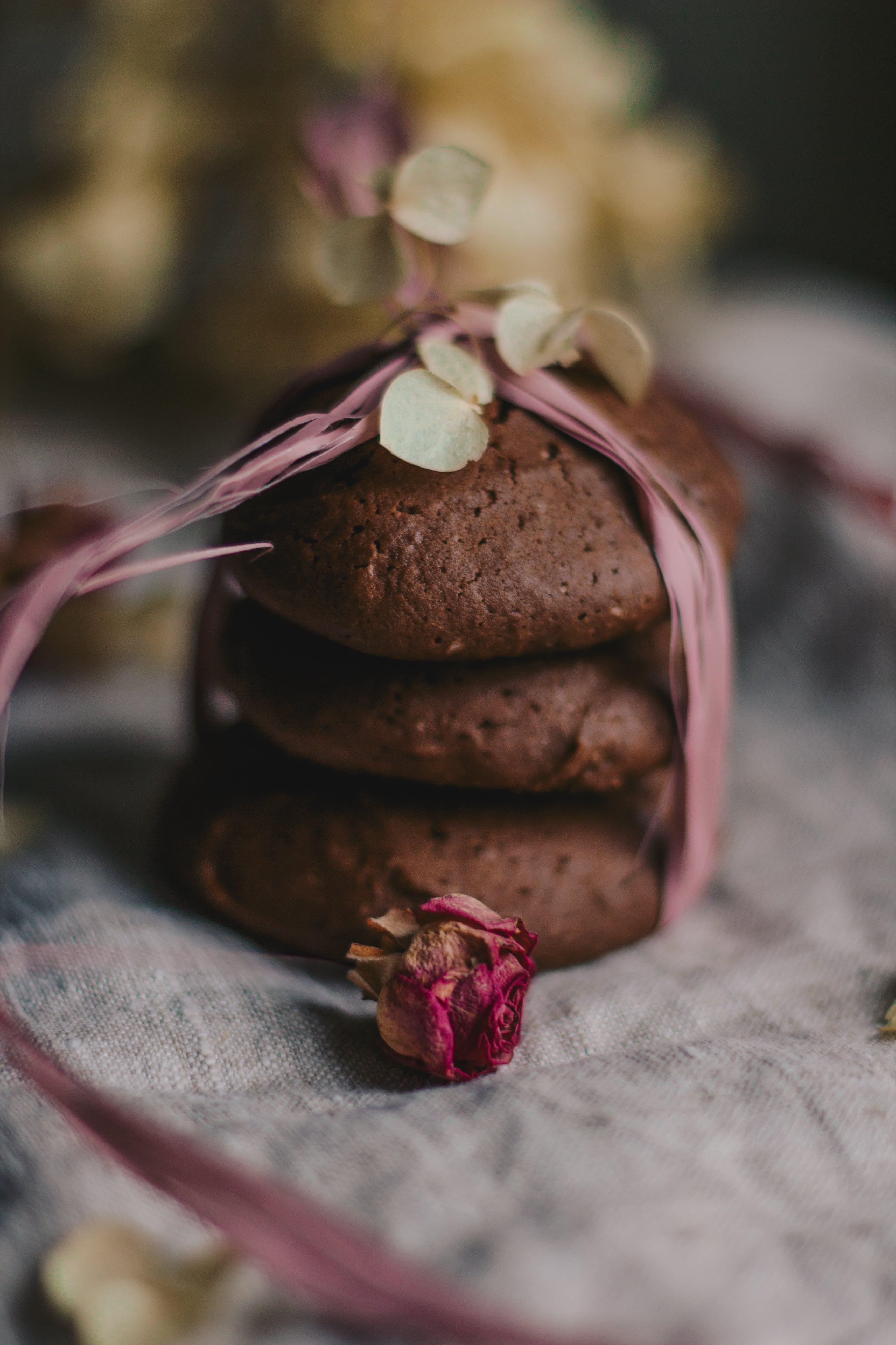 Three Brown Cookies
