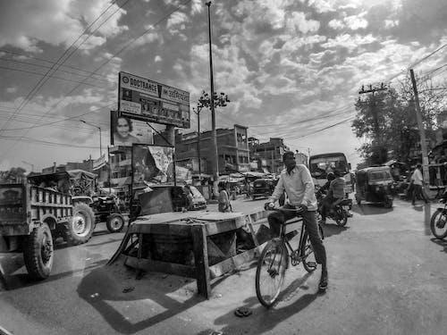 Gratis arkivbilde med bihar, folkemengde, gate, india