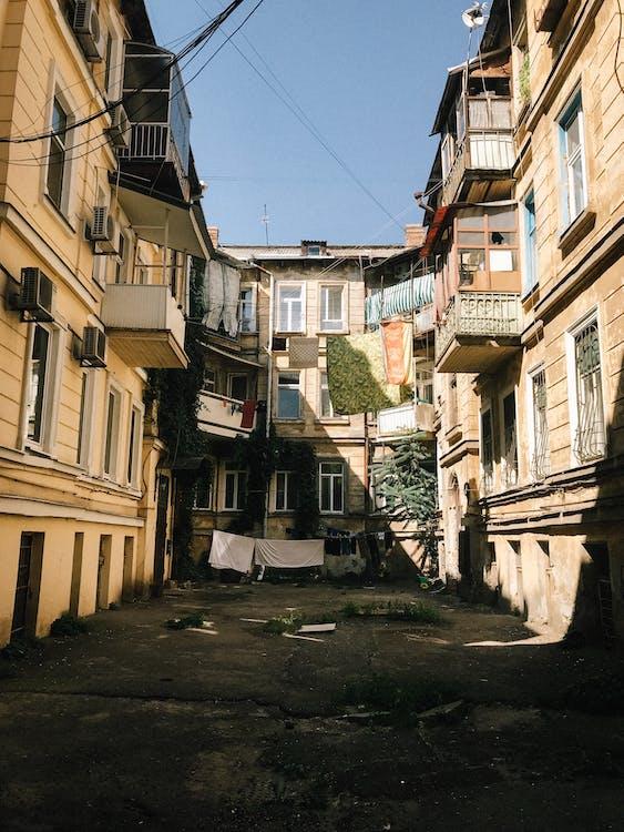 apartmán, architektura, balkony