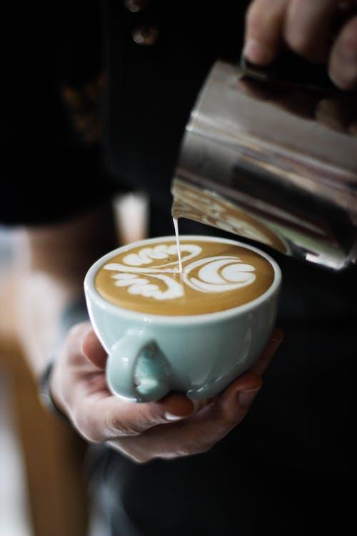 cappuccino, chutný, espreso