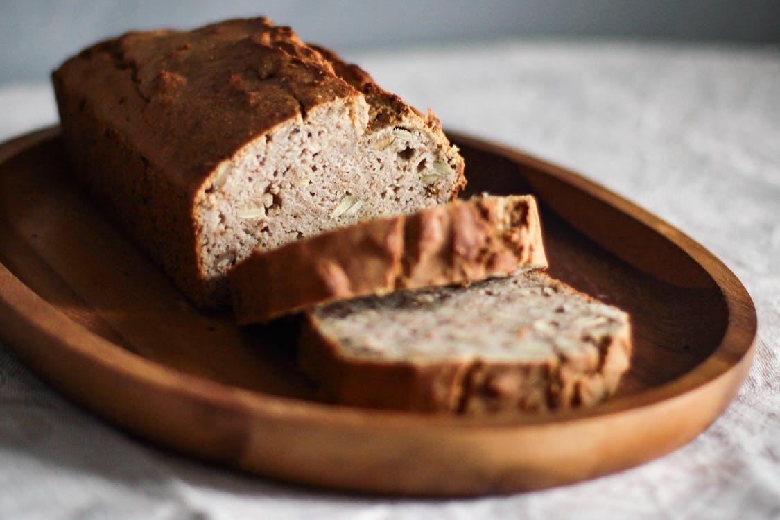 bagt, brød, close-up
