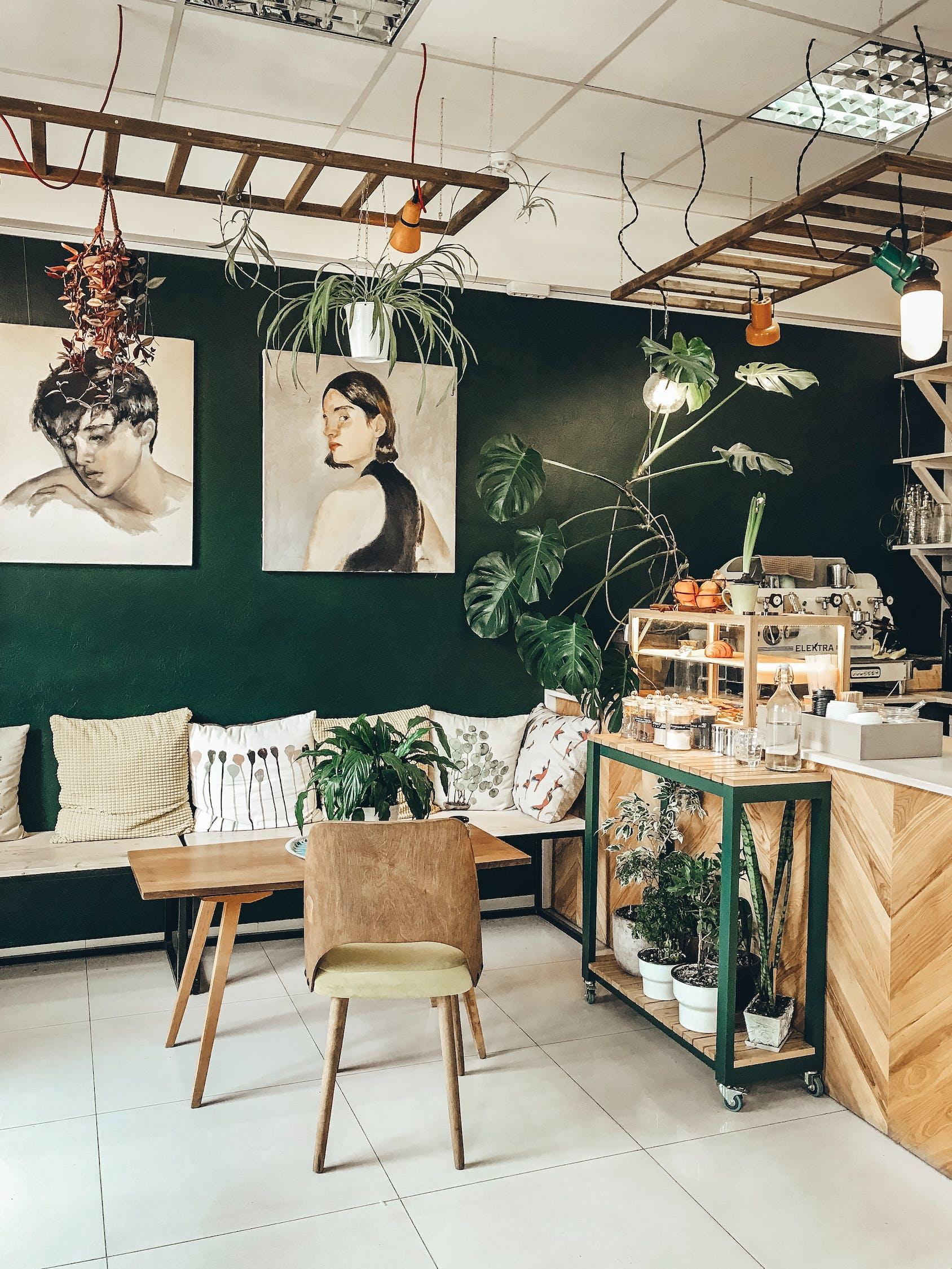 Diseño de cafetería sostenible