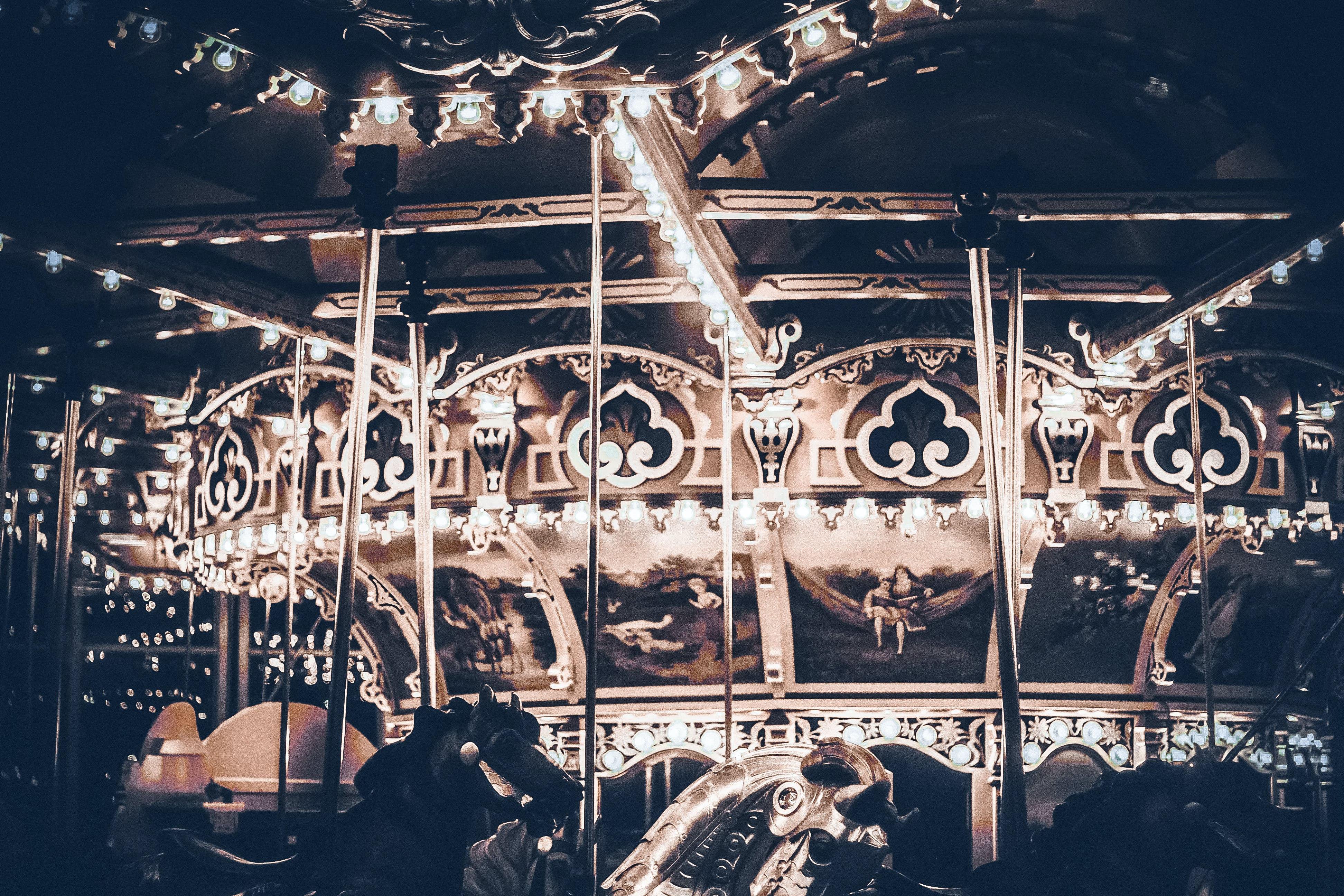 Free stock photo of atmosphere, carousel, lights