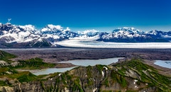 glacier, snow, landscape