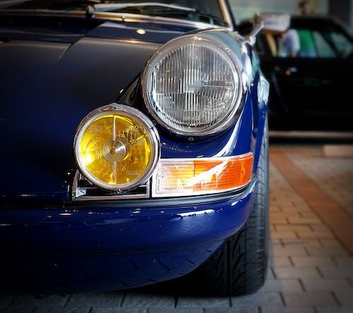 Základová fotografie zdarma na téma klasický, modrá, Porsche, světel