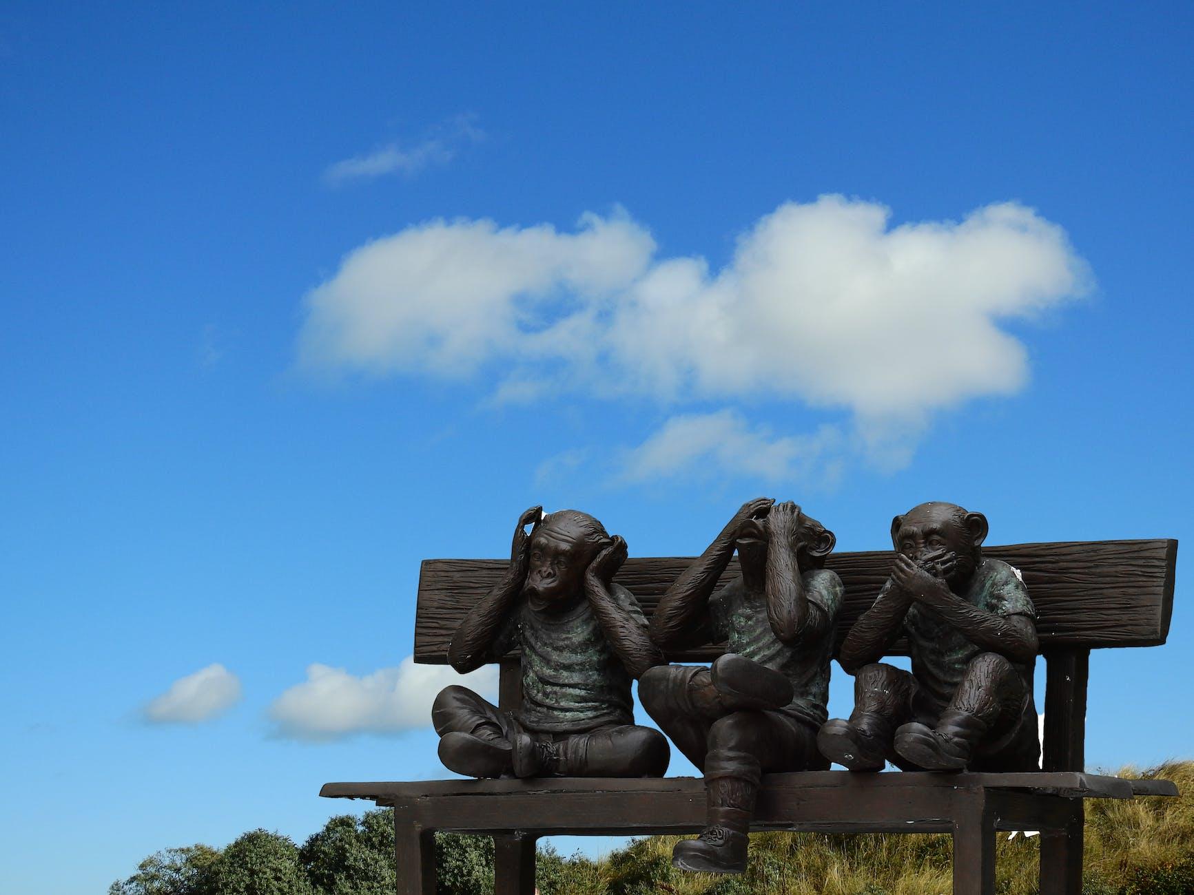 Three Wise Monkey Decor