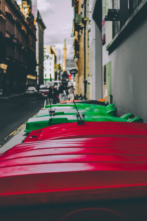 Free stock photo of architecture, bins, buildings, capture