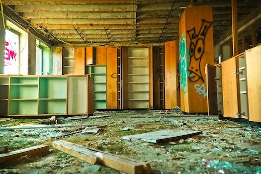 Free stock photo of graffiti, dirty, broken, window