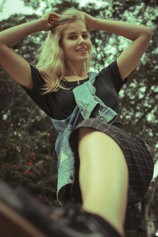 Free stock photo of blond, german, kick, kicking