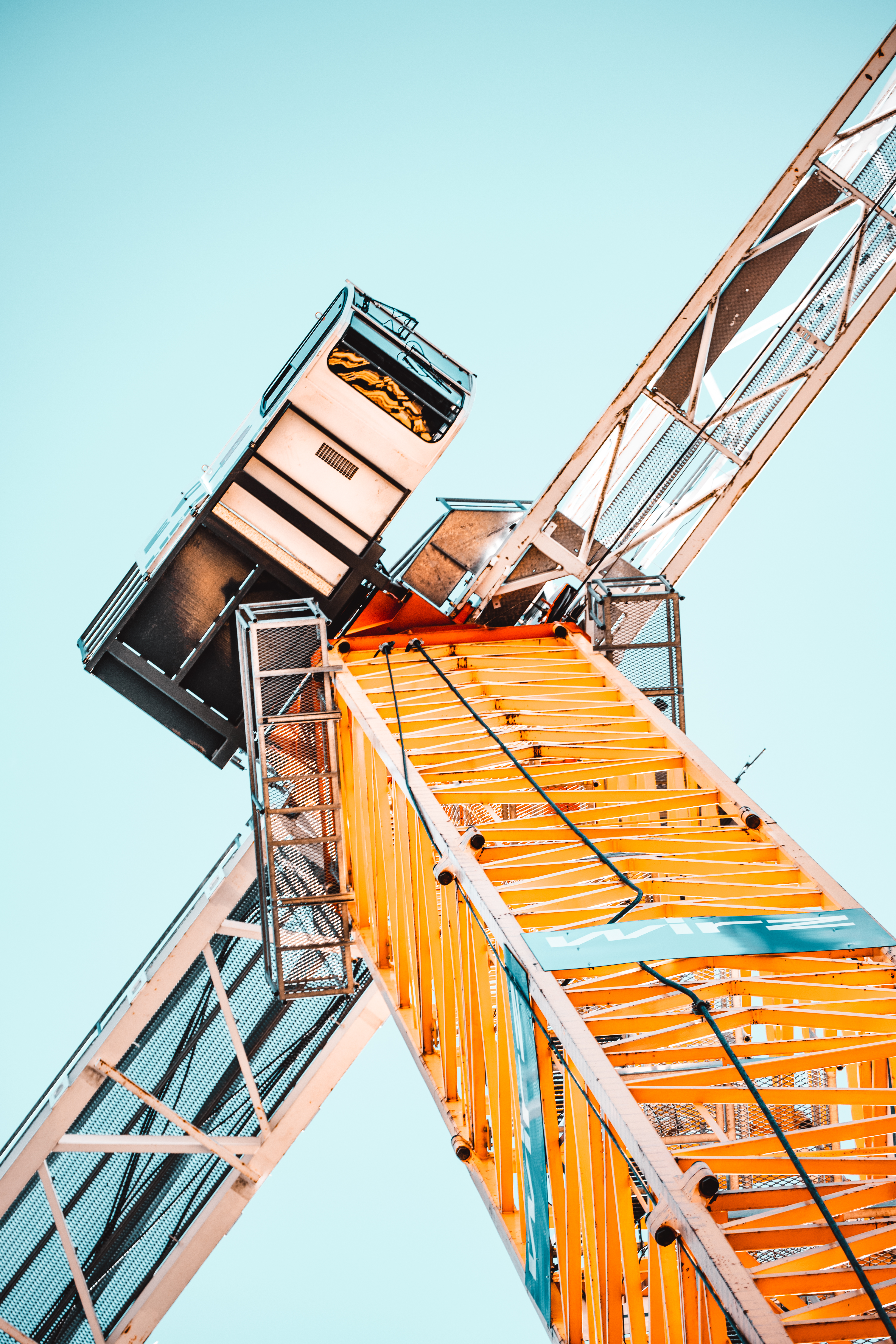 Low Angle Photography of Tower Crane