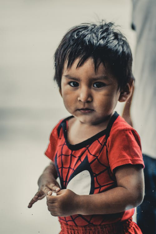 Toddler in Spider-man Shirt