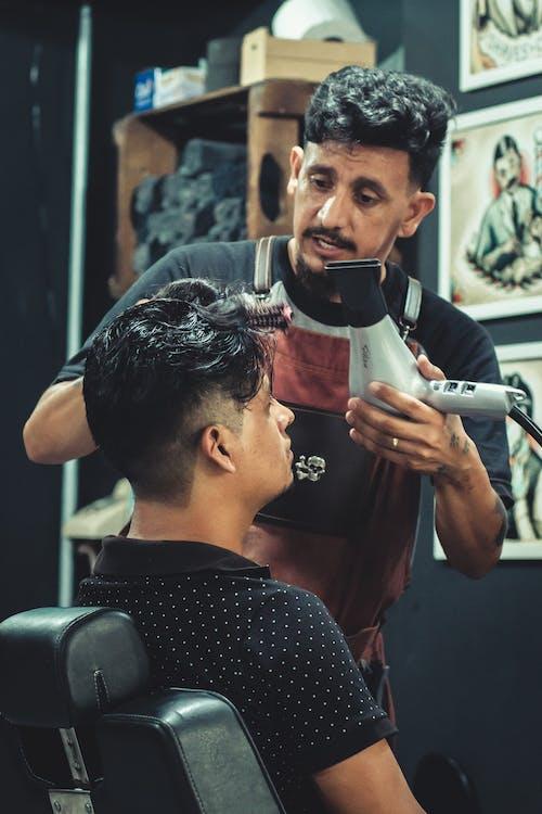 Foto d'estoc gratuïta de assecador de cabell, barba, barber, barberia