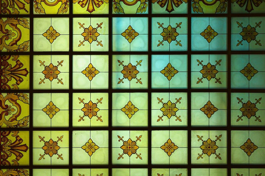απεικόνιση, αρχιτεκτονική, βαμμένο γυαλί