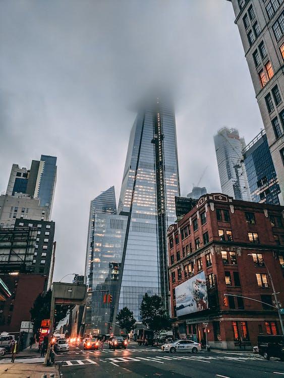 các tòa nhà, hình nền thành phố new york, kiến trúc