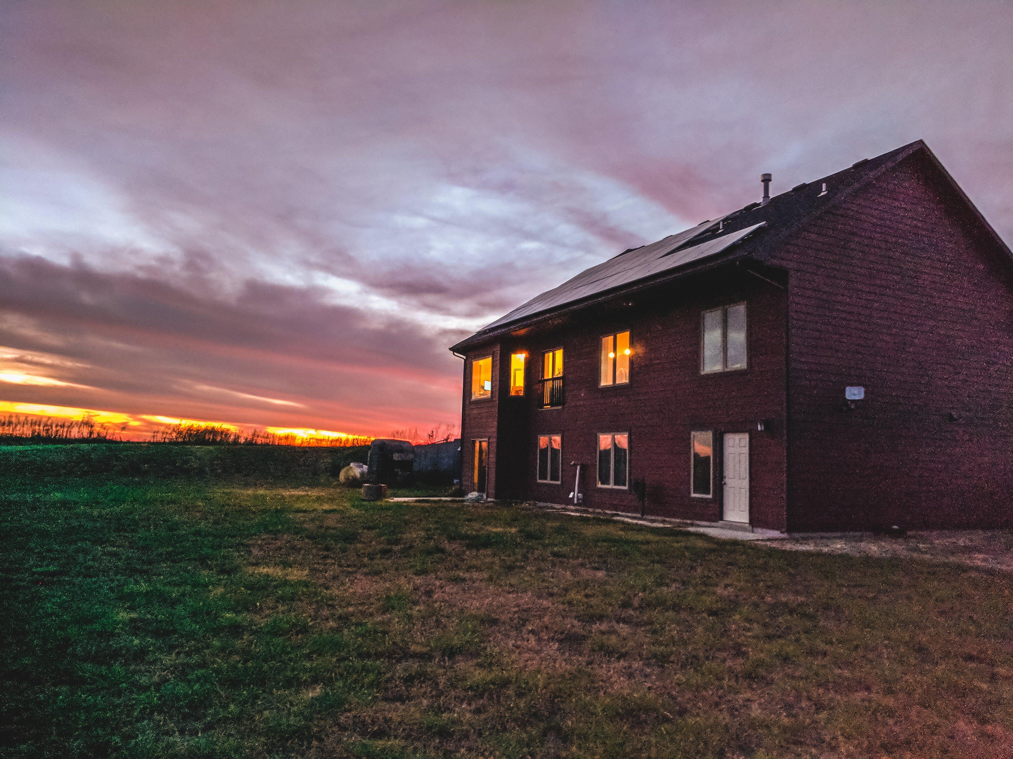 Foto profissional grátis de kansas, país natal, pôr do sol, vermelho